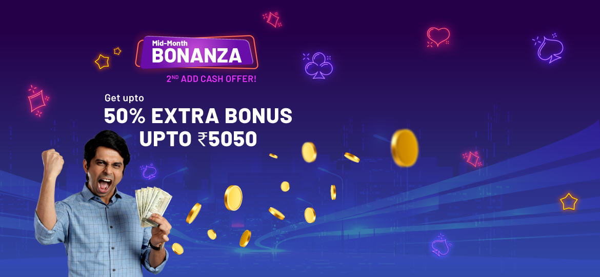 booster bonus mid month offer for rummy players