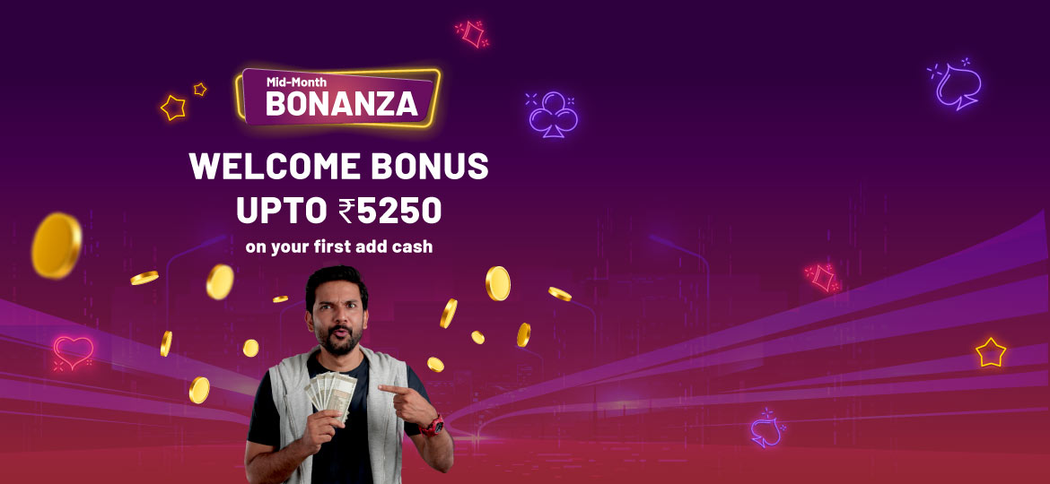 welcome bonus offer for rummy players
