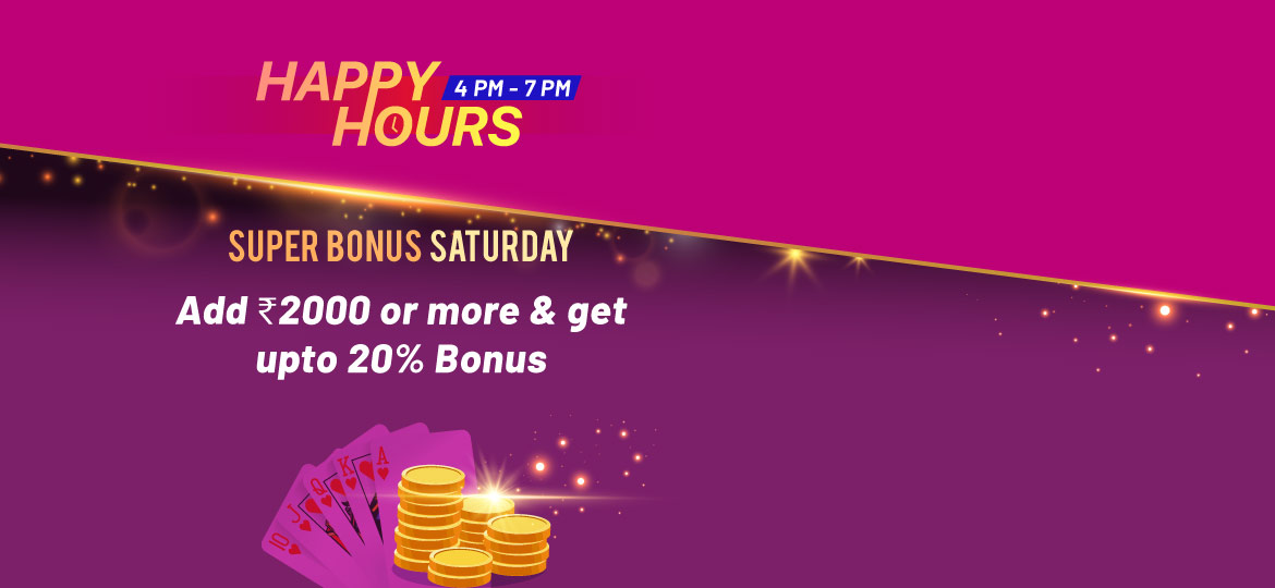 saturday happy hour for online rummy players